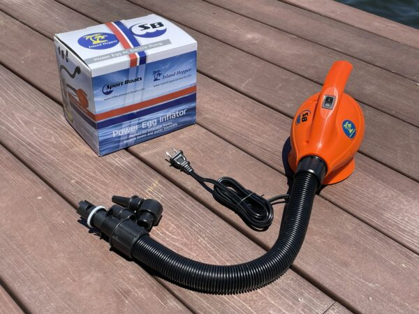 The Power Egg Inflator is designed to inflate your Inflatable Sport Boat.