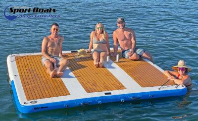 mega yacht dock water platform
