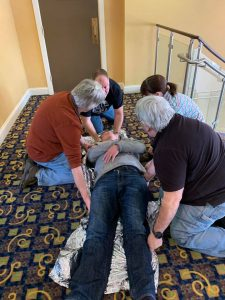 If you came across an accident scene, would you know what to do?  Club members who attended the 8-hour hands on, info packed CRASH course are better equipped.