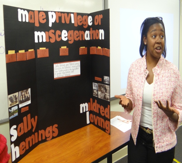 Jorden Sanders' Poster on Sally Hemings and Mildred Loving