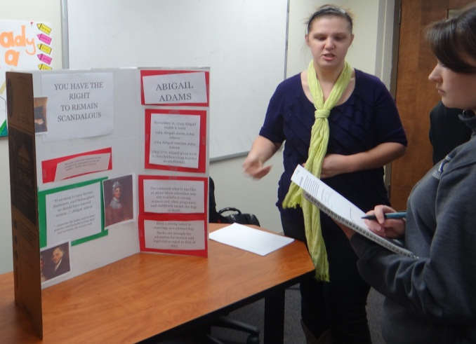 Audre Cantrel's Poster on Abigail Adams and Sandra Day O'Connor