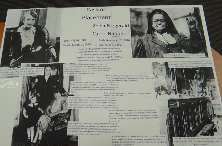Alex Happell's Poster on Zelda Fitzgerald and Carrie Nation
