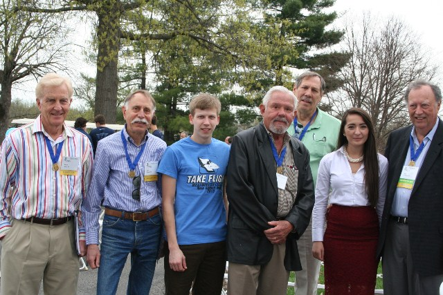 Will Megl, third from left, is pictured with his scholarship donors.