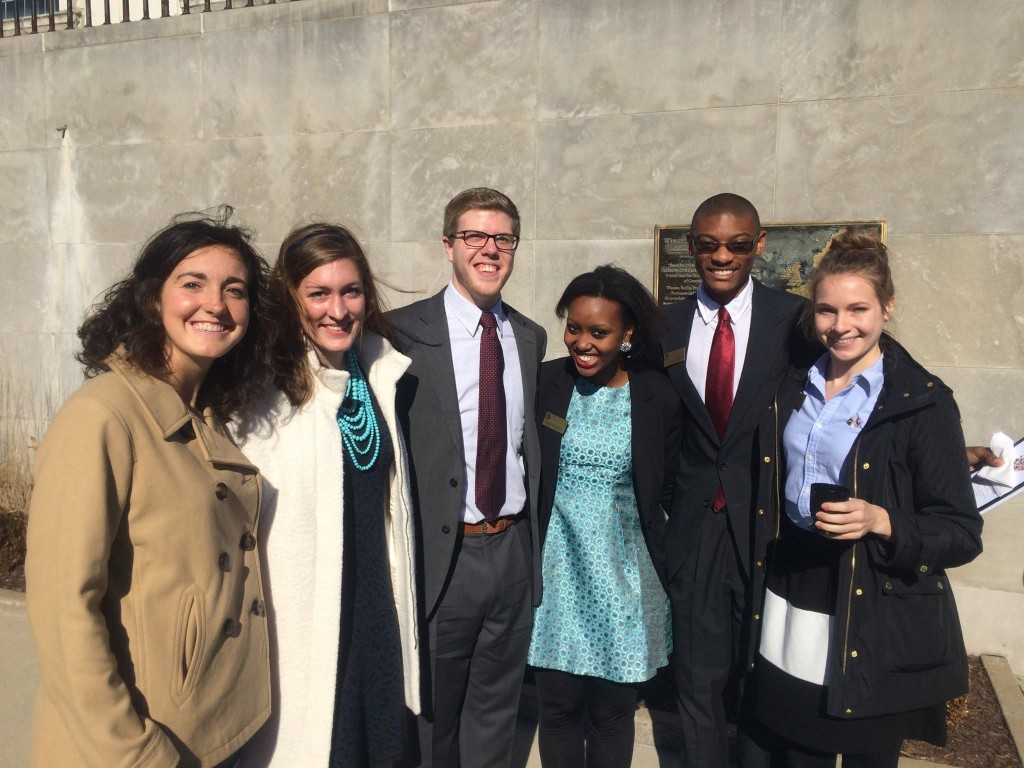 Student Ambassadors at America's Service of Remembrance
