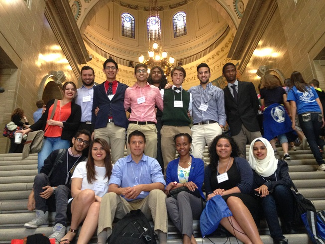 Westminster students inside the Capitol Building