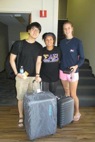 Welcome, to Seungchul Jun (right), exchange student from South Korea.