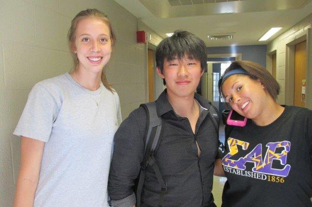 Henry Choy from Hong Kong (center) with RAs. Welcome!