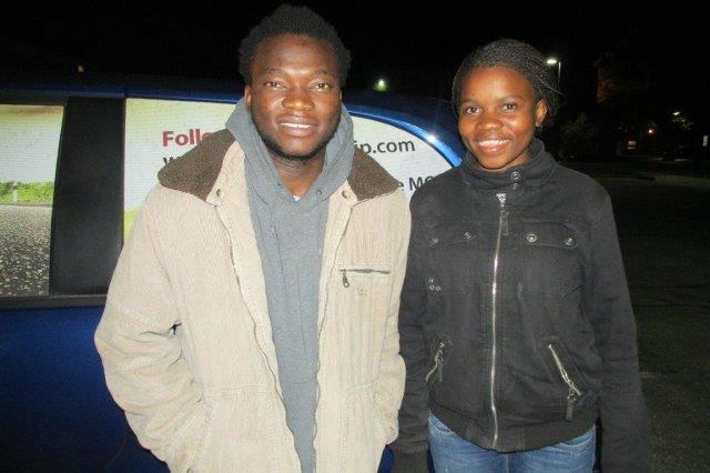 """Welcome to these new students from Swaziland - Joseph """"Zito"""" Mbowa and Vela Dlamini."""