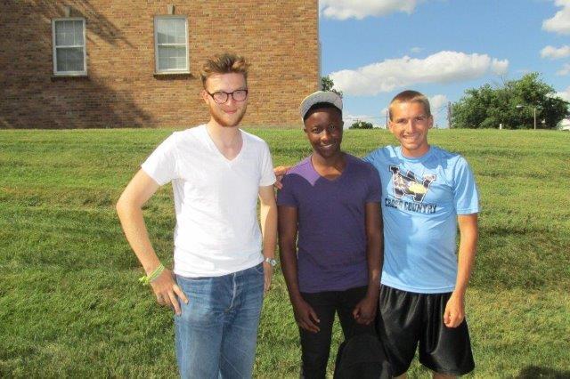 Welcome, Ngegama Nyathi from Zimbabwe! (center)