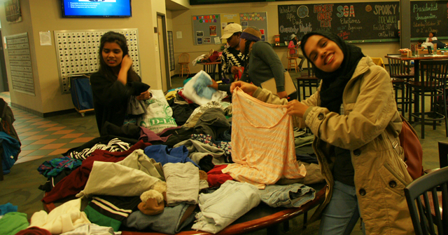 Swap Shop was a good deal for students interested in exchanging their clothes for something different.