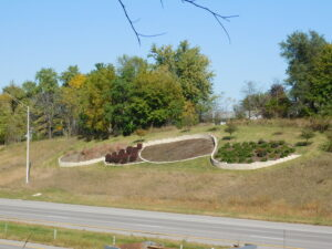 Plantings at Wilson Avenue exit