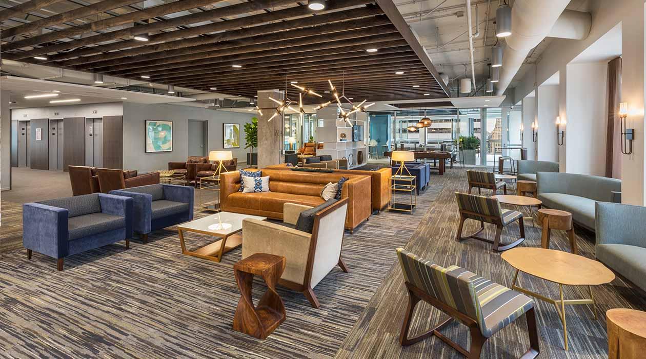 200 West Jackson Open Office Lounge