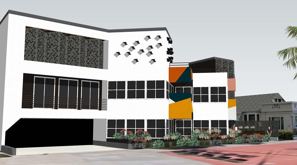 Uptown Centre Parking Garage Entrance