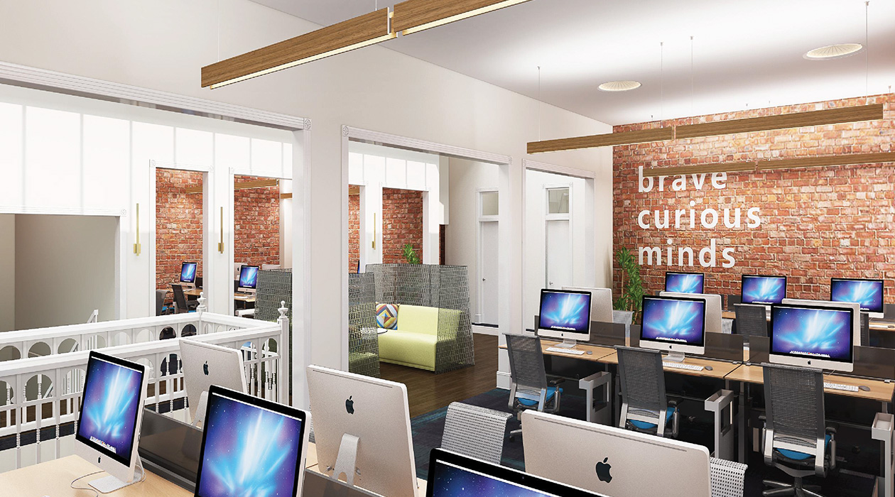 Louis Bank of Commerce Computer Lab Rendering