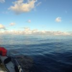 No wind on the first morning out of Mindelo