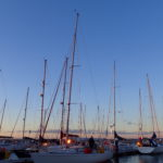 Sunset in the Weymouth marina