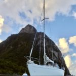 Moored below Gros Piton