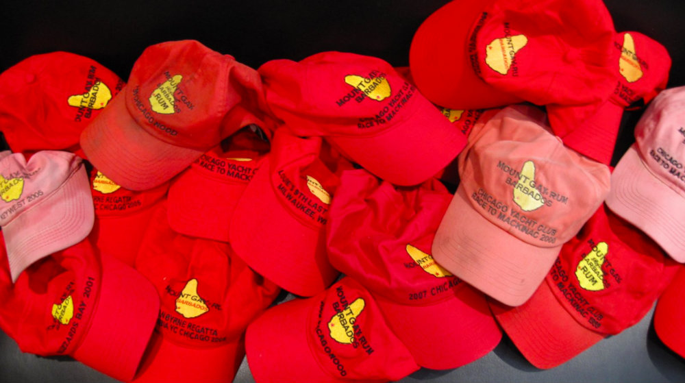 The highly sought after Mount Gay Caps
