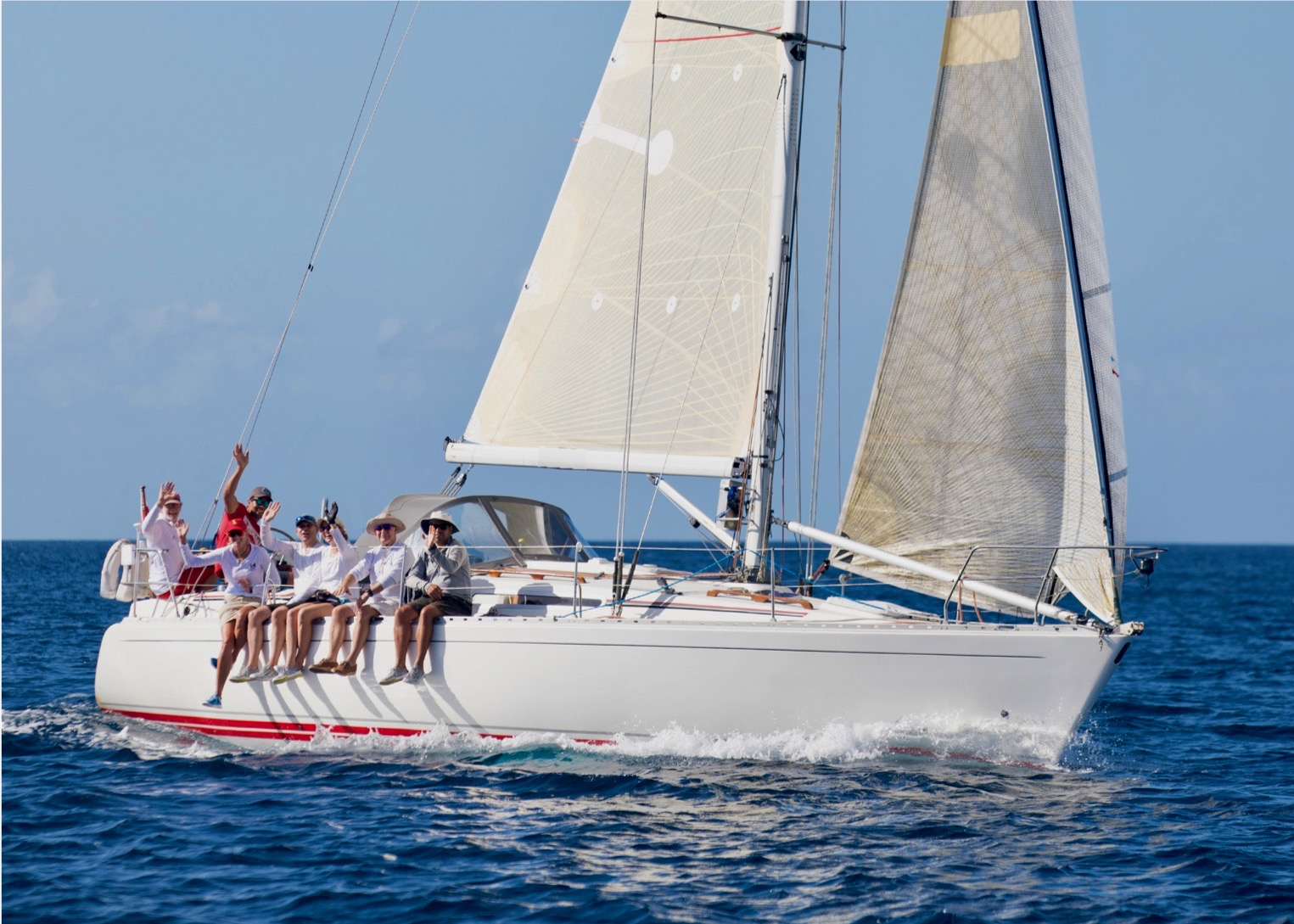 """The Project"" racing around Barbados  (Photo: Peter Marshall)"