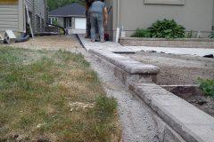 Interlocking brick retaining wall and landscaping north bay ontario 33