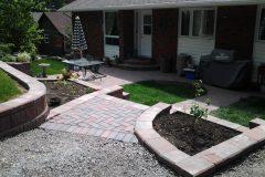 Interlocking brick retaining wall and landscaping north bay ontario 5