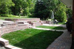 Interlocking brick retaining wall and landscaping north bay ontario 45