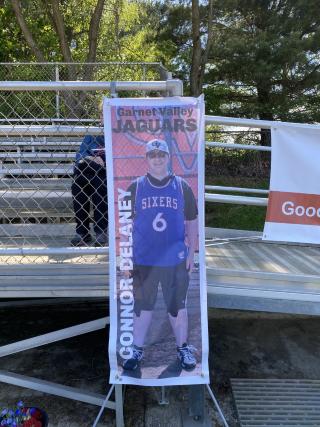 High School Baseball Player on Poster