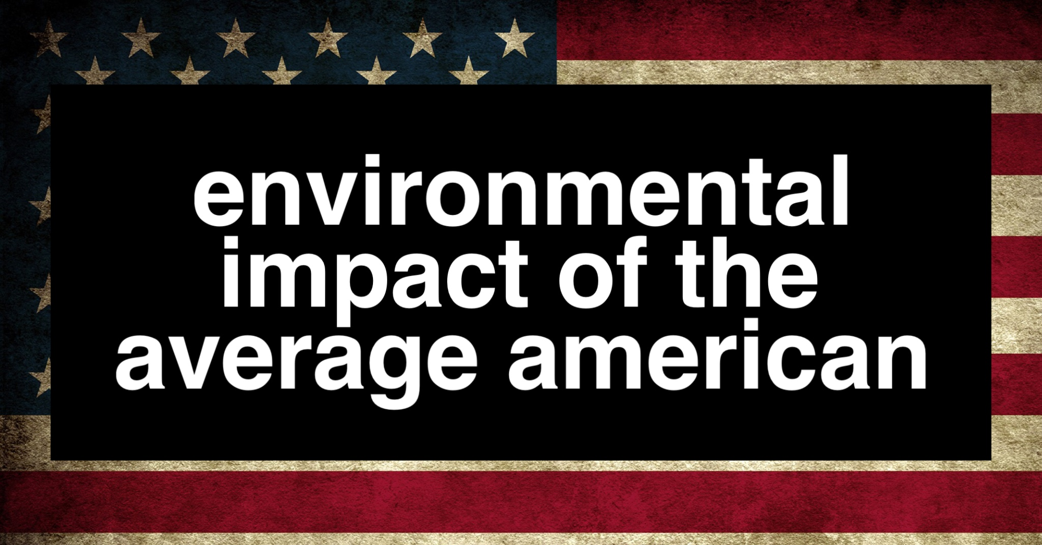 Environmental Footprint of the Average American