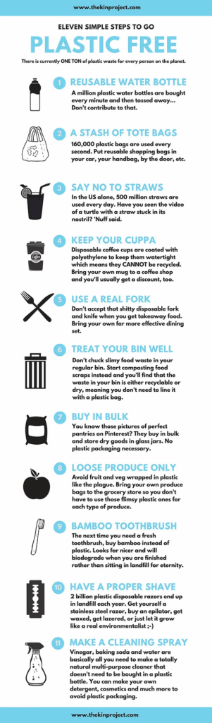 How to Go Plastic Free Infographic