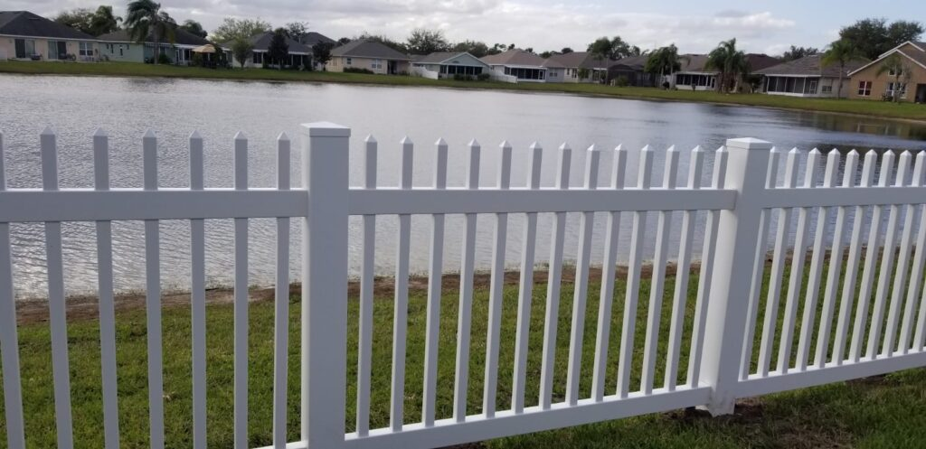 1.5 inches white pickets fence open top