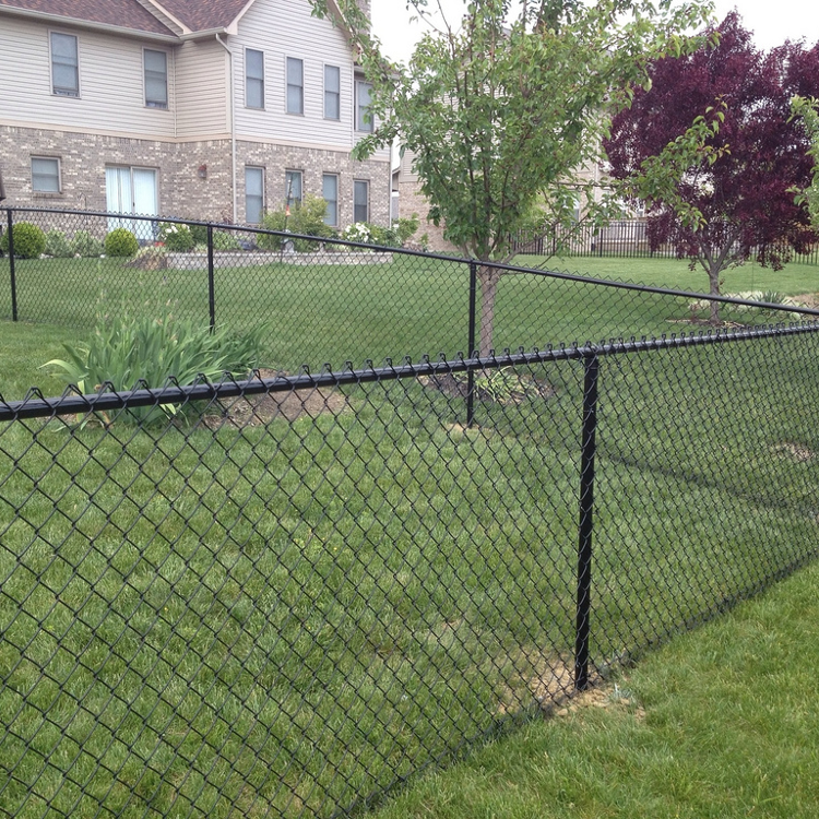 Black-Vinyl-Chain-Link-Fence-with-Top-and-Bottom-Rails-1