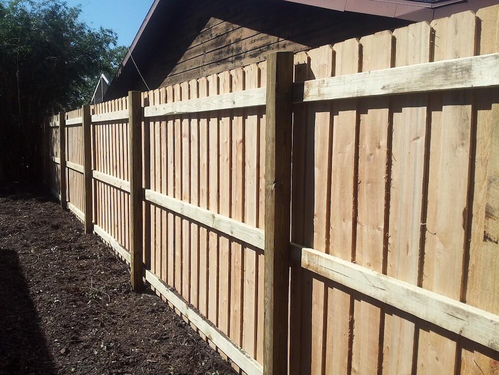 Board On Board Wood Fence