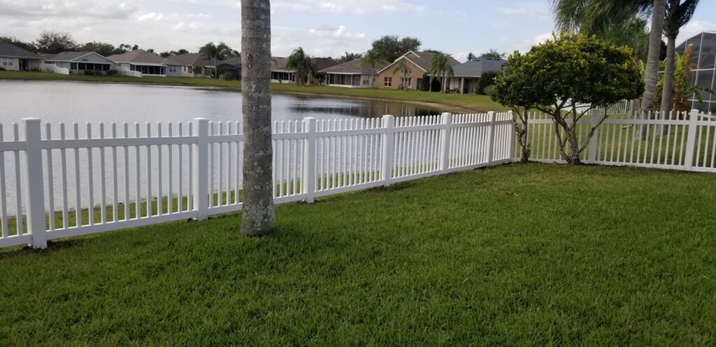 white pickets fence long