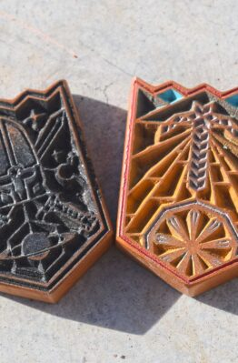 Settlers of Catan Hand Made CNC Largest Army Longest Road Tokens