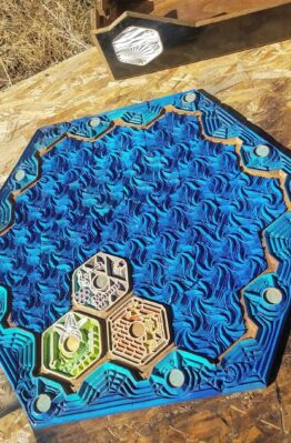 Home Made Seafarers Settlers of Catan Water Tiles Board Game