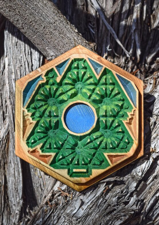 Handcrafted Wooden Wood Tree Settlers of Catan Tile