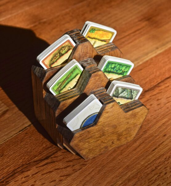 settlers of catan custom home made card holder caddy