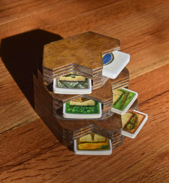catan custom cnc card holder 3d printed