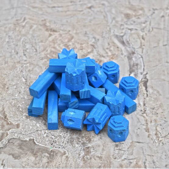 Blue Handmade Catan Cities Settlements Cast Molded