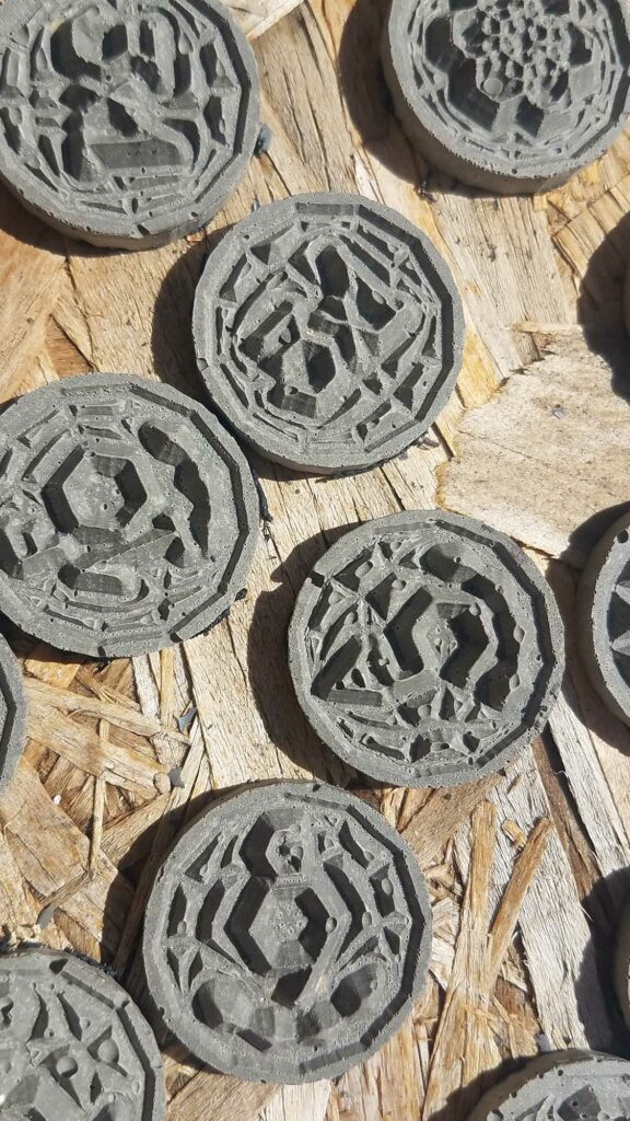 Handcrafted Elvish Ruins CNC Settlers Catan Board Game Hand Made Pieces