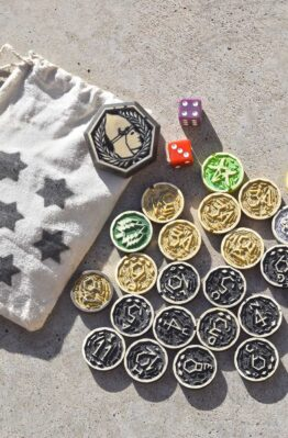 settlers of catan hand made chits