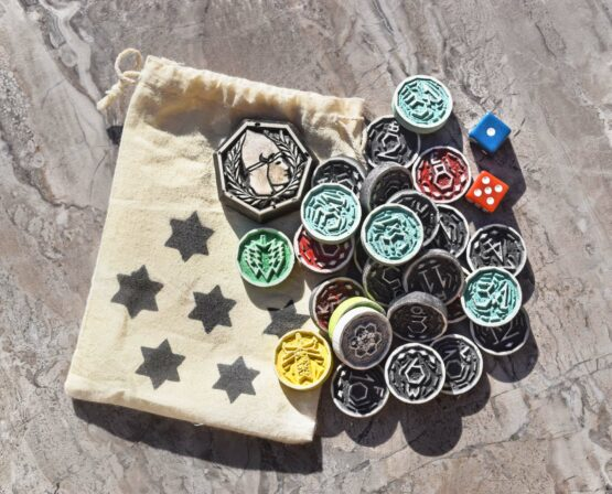 cnc diy settlers of catan hand made tokens gift idea gamer
