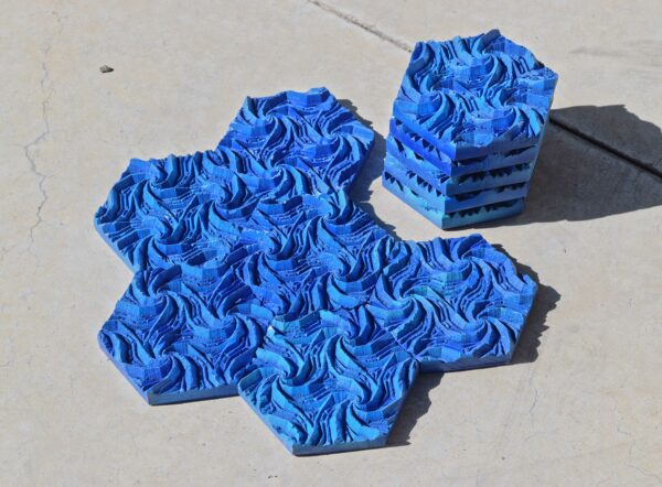 Catan Seafarers Water Hexagon Tiles Hand Crafted CNC Wooden Board Game