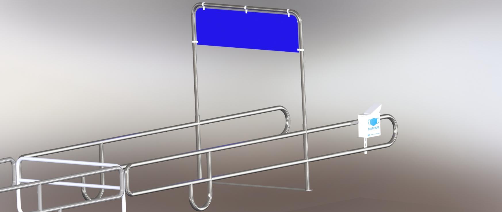 Mask Disposal Can, Cart Corral