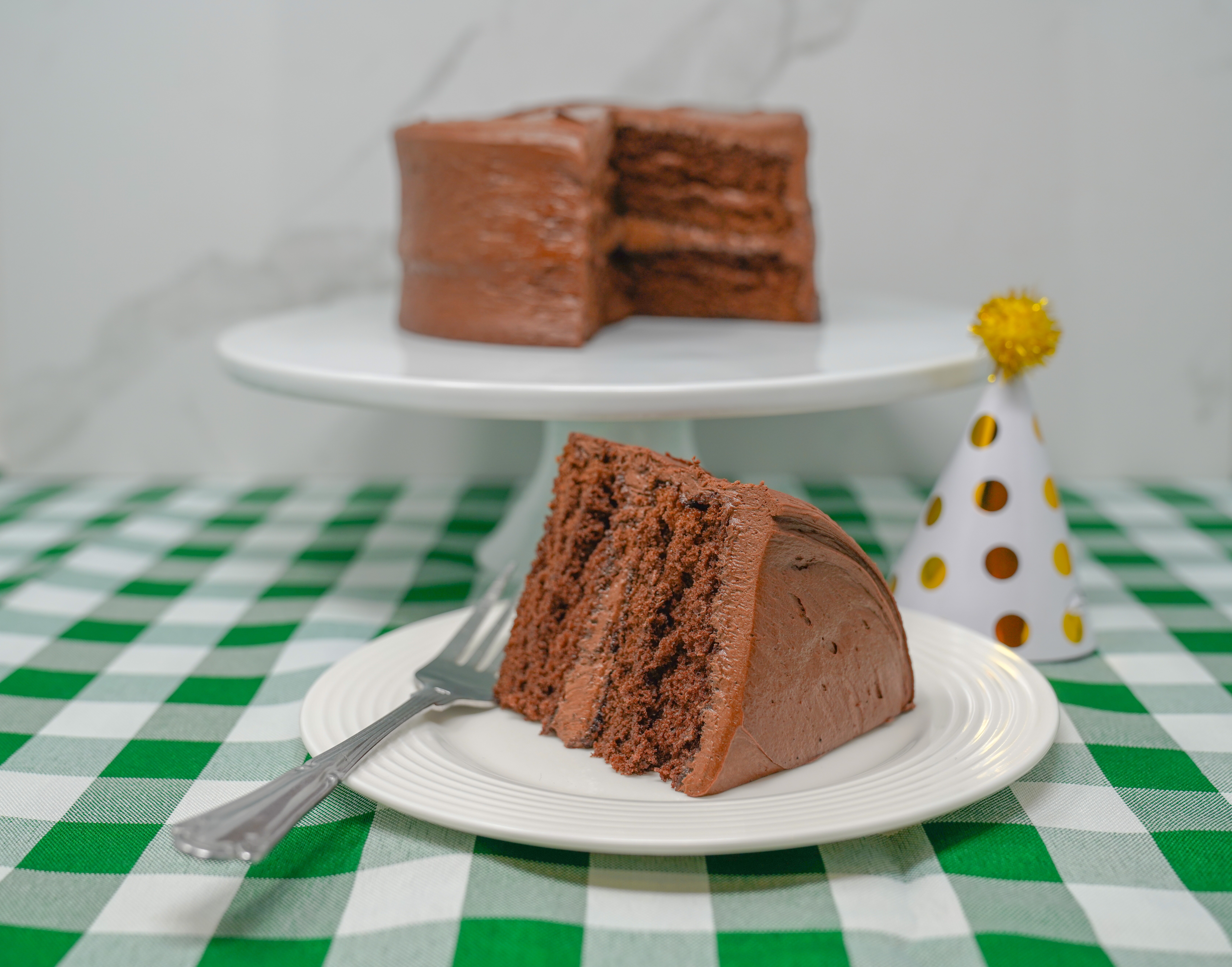A slice of Bill Knapp's chocolate cake