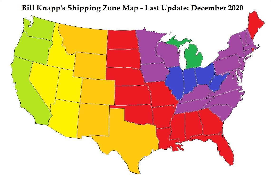 Shipping Zone Map