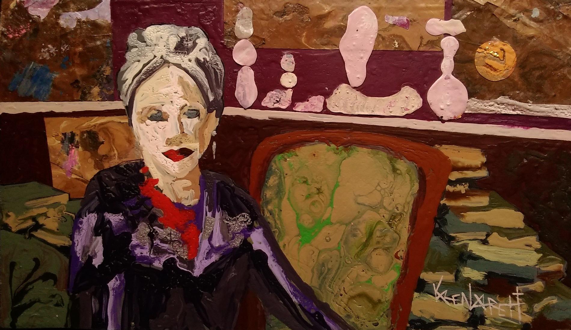 karen_garrett_flat_sculpture_adrienne_eloise_vonderstein_portrait_$850_sold