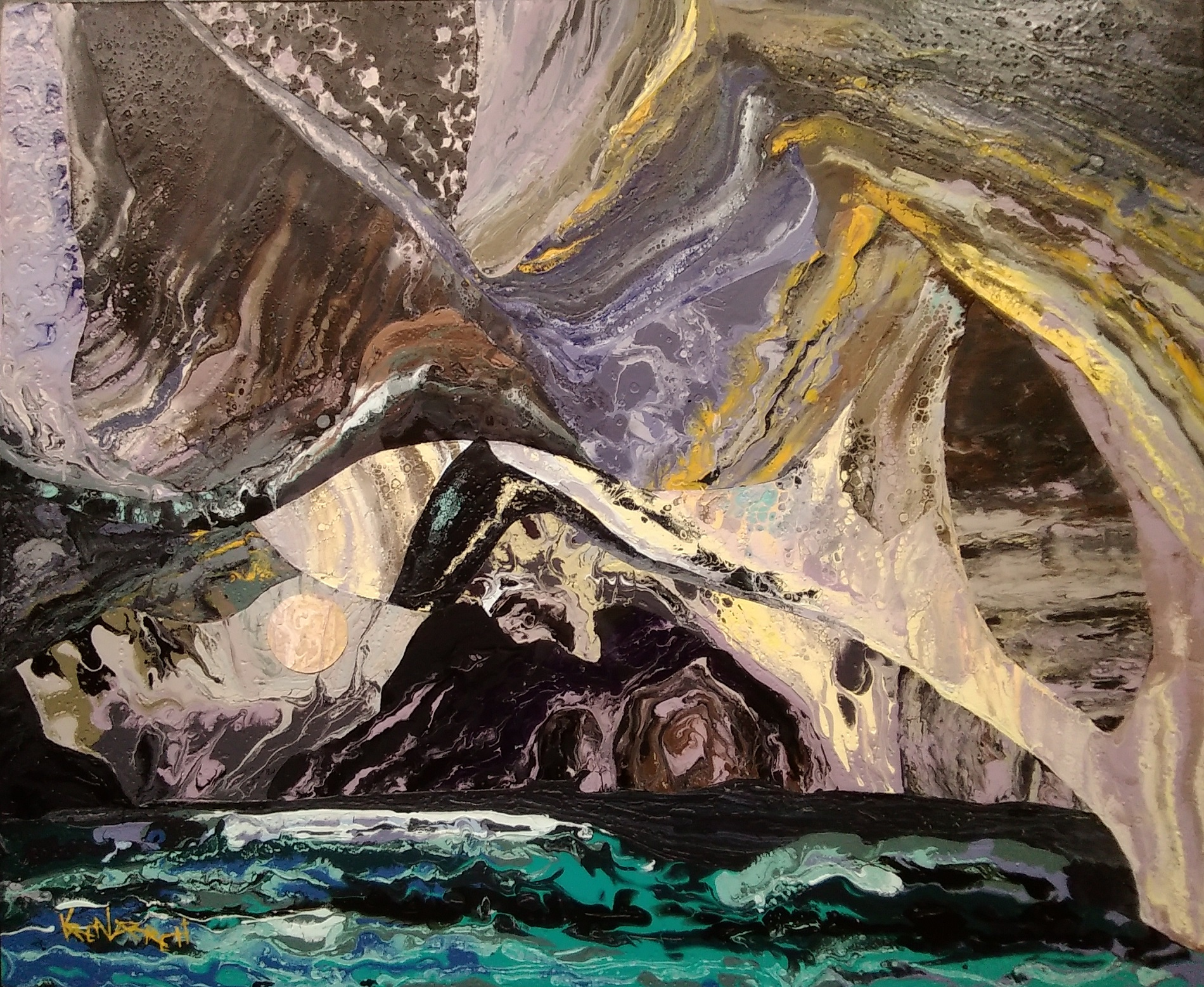 karen_garrett_flat_sculpture_rapids_cave_$2,475