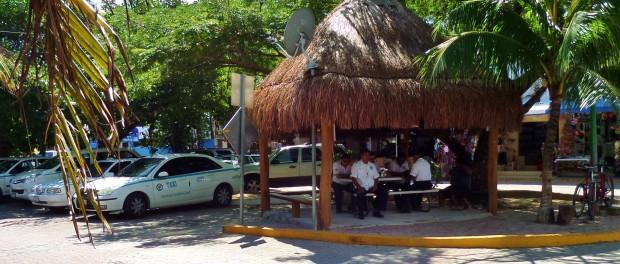 Taxi Playa Del Carmen taxi stand.