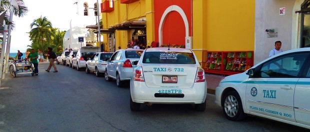 Playa Del Carmen Taxi Stand By ADO Bus Station on 5th Ave.